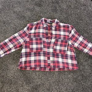 Topshop Cropped Flannel